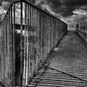 Footbridge Railings Art Print