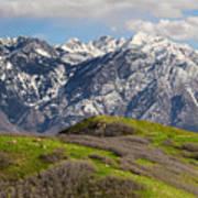 Foothills Above Salt Lake City Art Print
