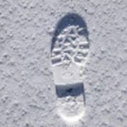 Footprint In Snow Art Print