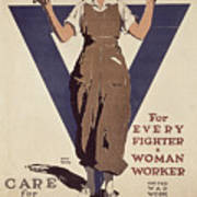For Every Fighter A Woman Worker Art Print
