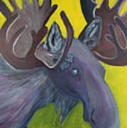 For Purple Mooses Majesty Art Print by Amy Reisland-Speer