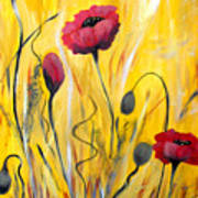 For The Love Of Poppies Art Print