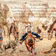 For The Love Of Rodeo Art Print