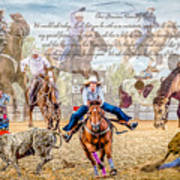 For The Love Of Rodeo II Art Print