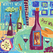 For The Love Of Wine Art Print