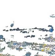 Foraging Gulls Art Print