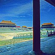 Forbidden City Porch Art Print