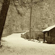 Forbidden Drive In Winter Print by Bill Cannon