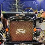 Ford Black Hot Rod Old School Art Print by Pictures HDR