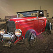 Ford Coupe Cartoon Photo Abstract Art Print