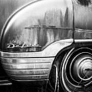 Ford Deluxe Fender Black And White Art Print