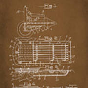 Ford Engine Lubricant Cooling Attachment Patent Drawing 1a Art Print