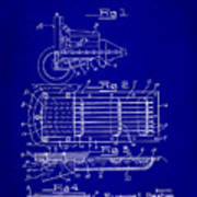 Ford Engine Lubricant Cooling Attachment Patent Drawing 1c Art Print
