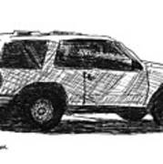 Ford Explorer Art Print