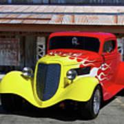 Ford Flaming Hot Rod Art Print