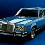 Ford Lincoln Versailles 1981 - American Dream Cars Catus 1 No. 2 H B Art Print