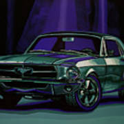 Ford Mustang 1967 Painting Art Print