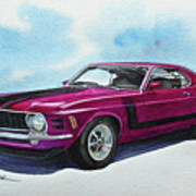 Ford Mustang Boss 302 Art Print