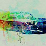Ford Mustang Watercolor 2 Art Print