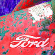 Ford Red Art Print