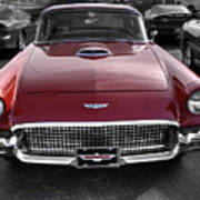 Ford Thunderbird Red V1 Art Print