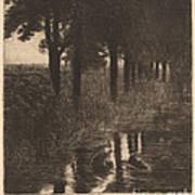 Forellenweiher (trout Pond) Art Print