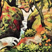 Forest Brook By August Macke Art Print