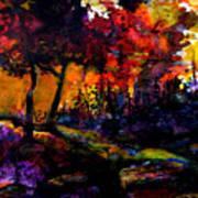 Forest Flames Art Print