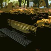 Forest Gump's Bench Art Print