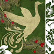 Forest Holiday Christmas Goose Art Print