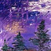 Forest In Lsd Art Print