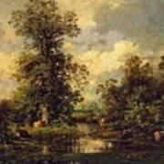Forest Landscape 1840 Art Print