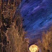 Forest Moonrise Glow Art Print