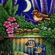 Forest Never Sleeps Chapter Of Quarter Moon Art Print
