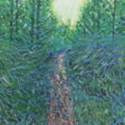 Forest Of Green And Blue Art Print