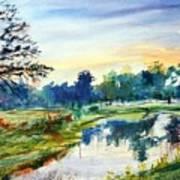 Forest Park At Dawn Art Print