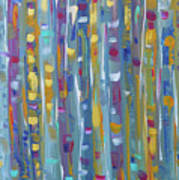 Forest Through The Trees, Abstract Art Art Print