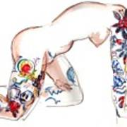 Forever Amber - Tattoed Nude Art Print