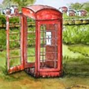 Forgotten Phone Booth Art Print