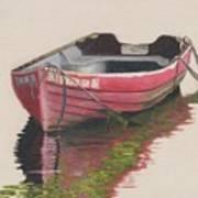 Forgotten Red Boat II Art Print