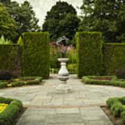 Quiet Garden Space At Niagara Falls Botanical Gardens Art Print