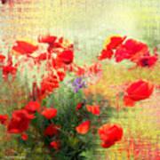 Formas Y Flores Art Print