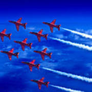 Formation Flying Britains Red Arrows Art Print