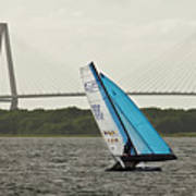 Formula 18 Sailing Cat Big Booty Charleston Sc Art Print