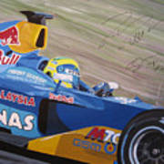 Formula One Racing Car Sauber Petronas Art Print