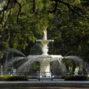 Forsyth Fountain 1858 Art Print