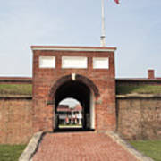 Fort Mchenry Gate In Baltimore Maryland Art Print