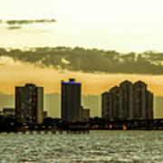 Fort Myers Skyline Art Print