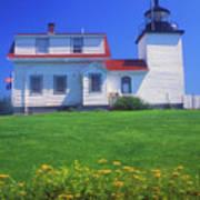 Fort Point Lighthouse Stockton Springs Art Print