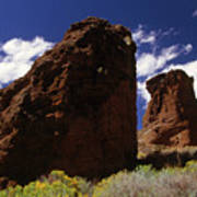 Fort Rock Twin Towers- H Art Print